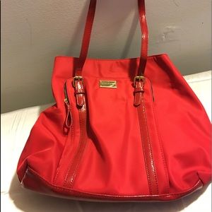 Red Tommy Hilfiger Tote Purse EUC